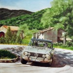 Painting Alfa in Italian Scenery