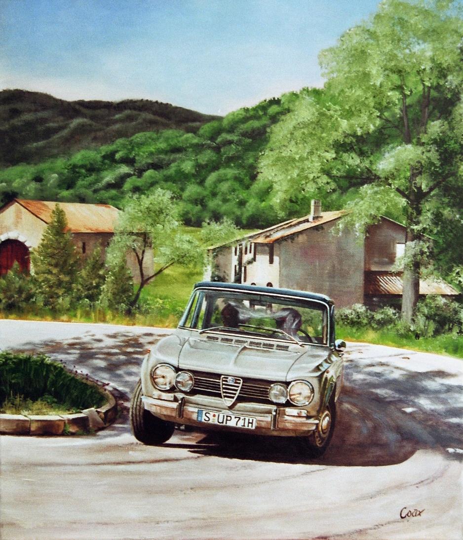 Painting Alfa in Italian Scenery
