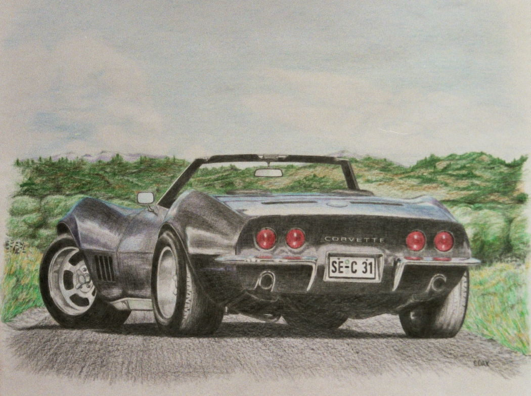 Corvette Stingray Drawing