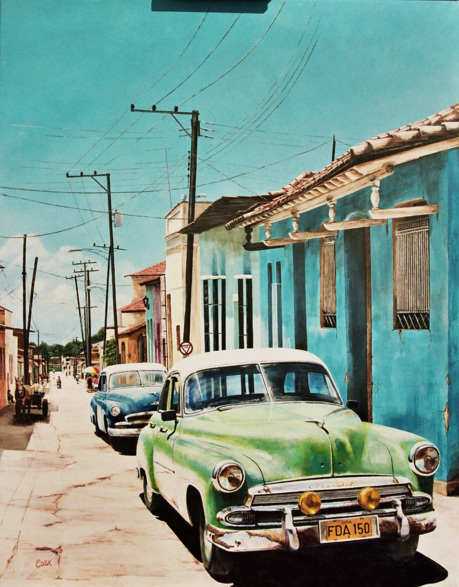 Cuban Street with Chevy