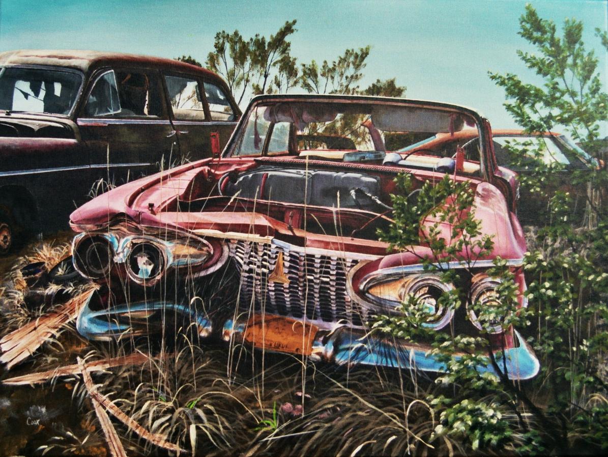 Plymouth Fury Acrylic Painting