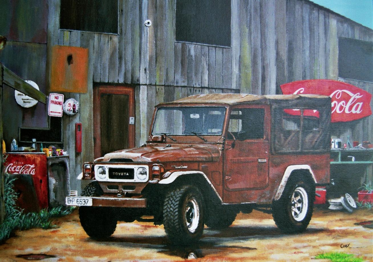 Landcruiser Acrylic Painting