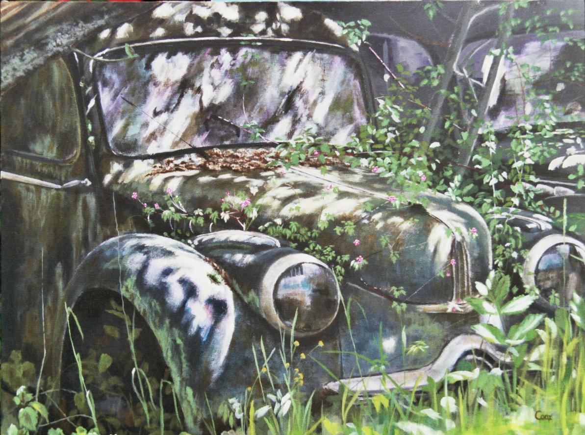 Panhard Acrylic Painting