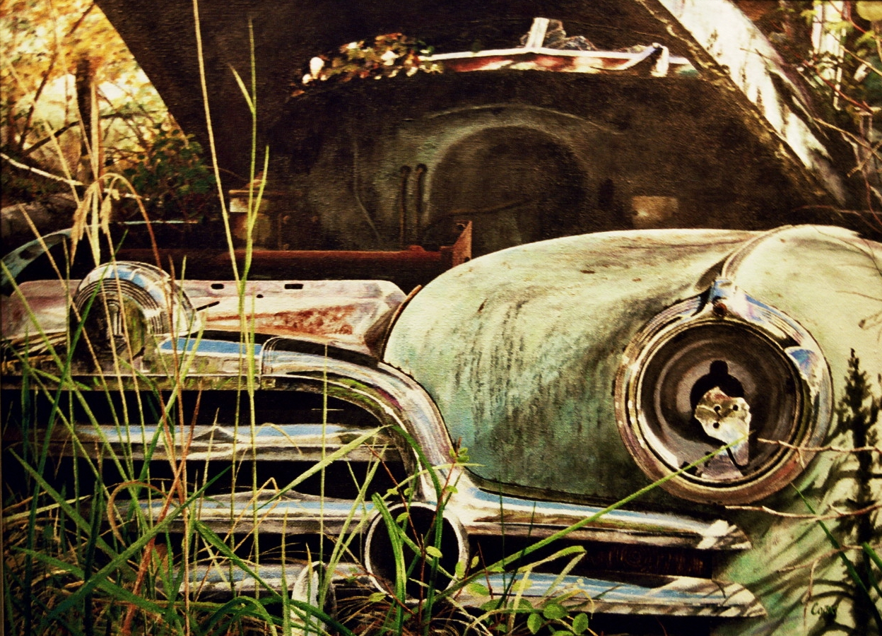 Pontiac Grille Acrylic Painting