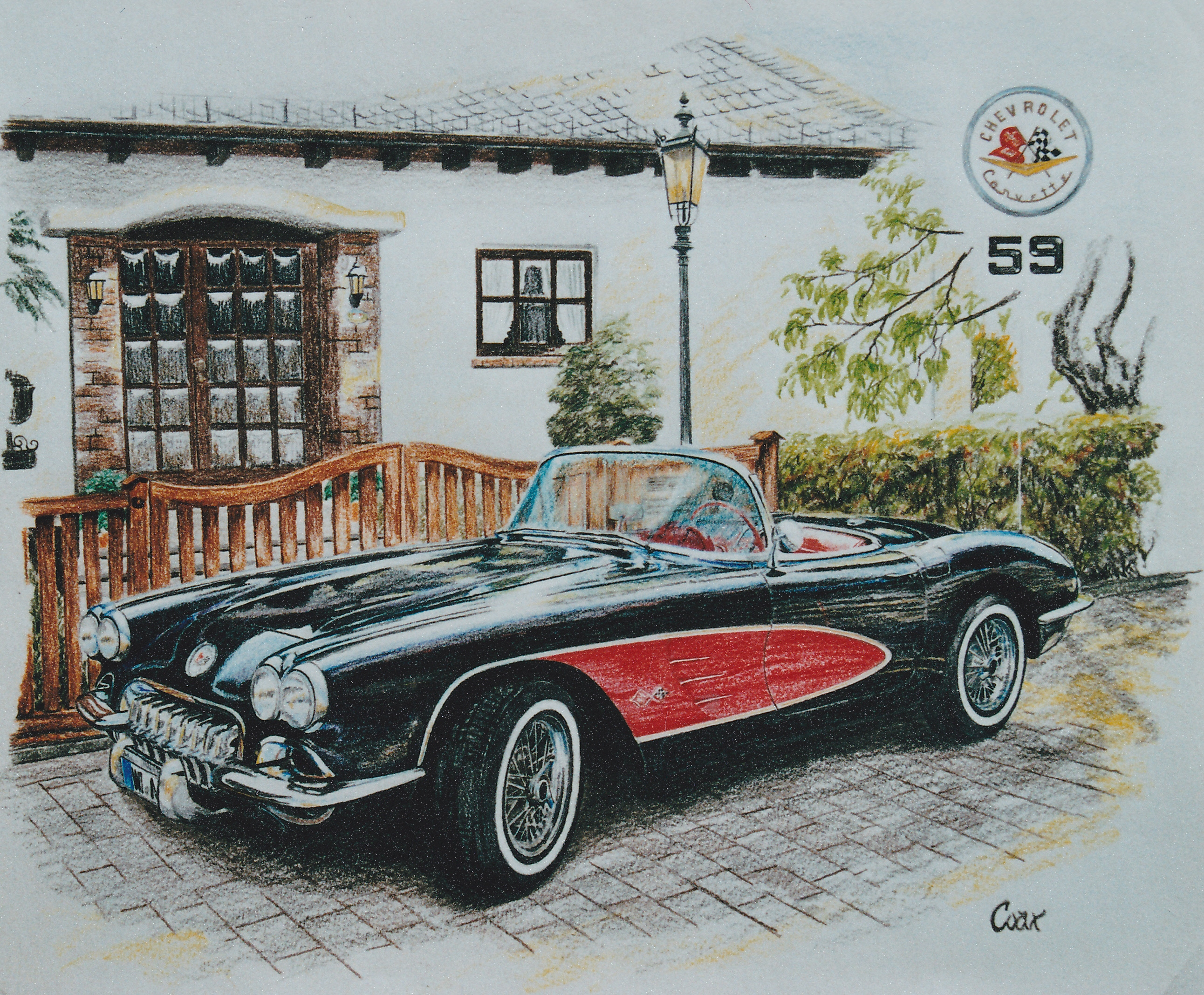 drawing '59 Corvette