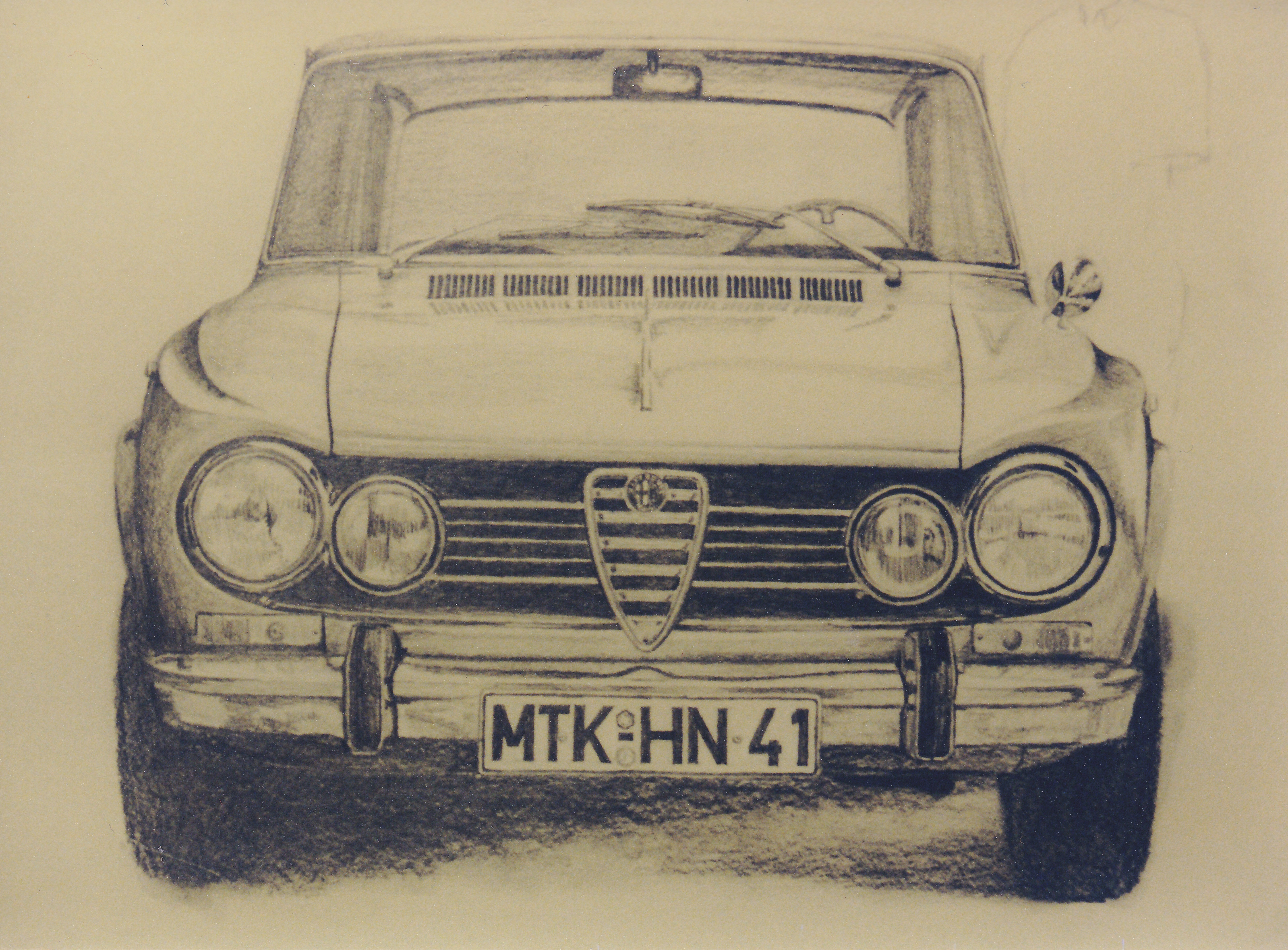 Pencil drawing Alfa Romeo Julia
