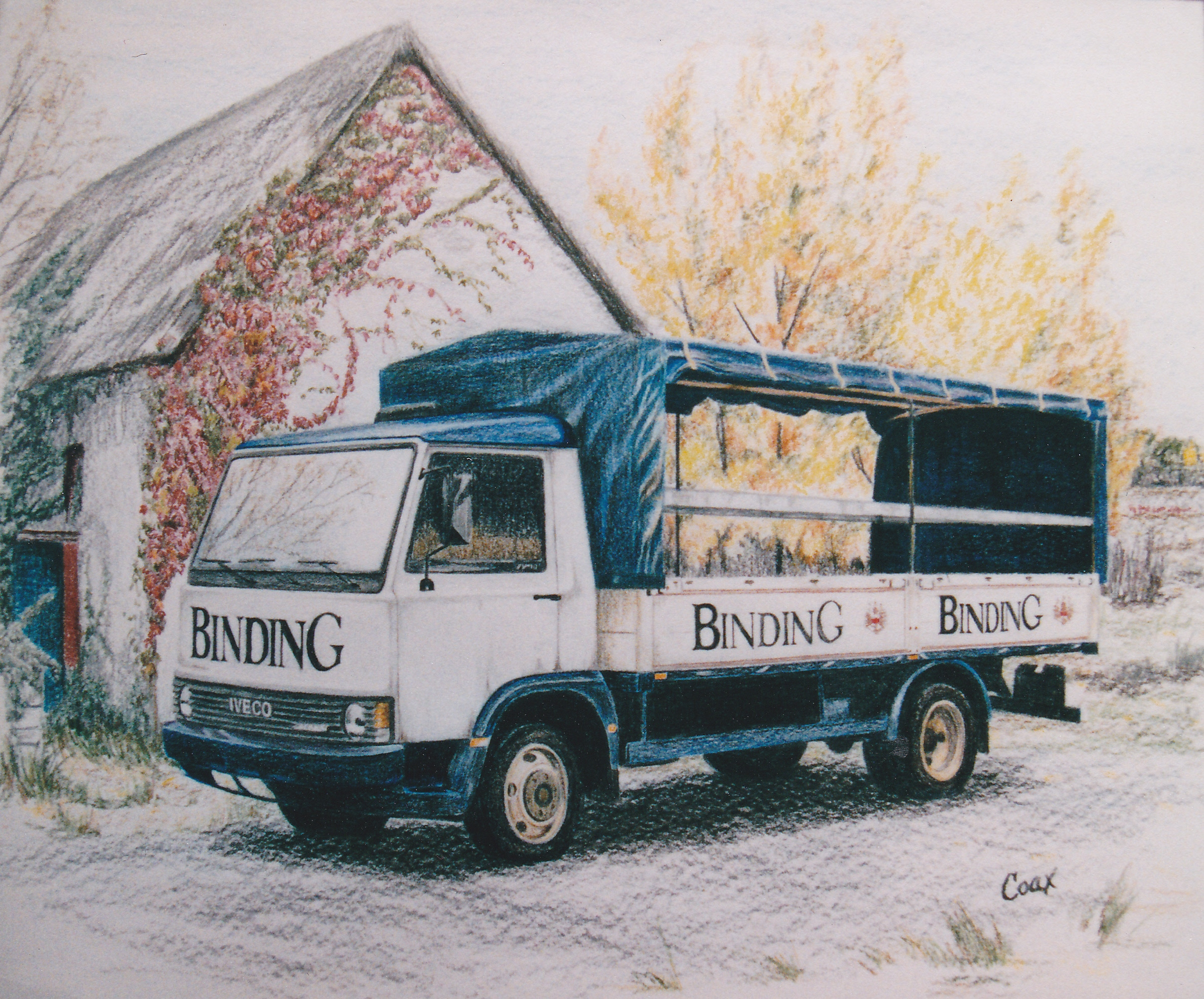 Drawing of delivery truck