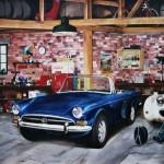 Garage scene painting