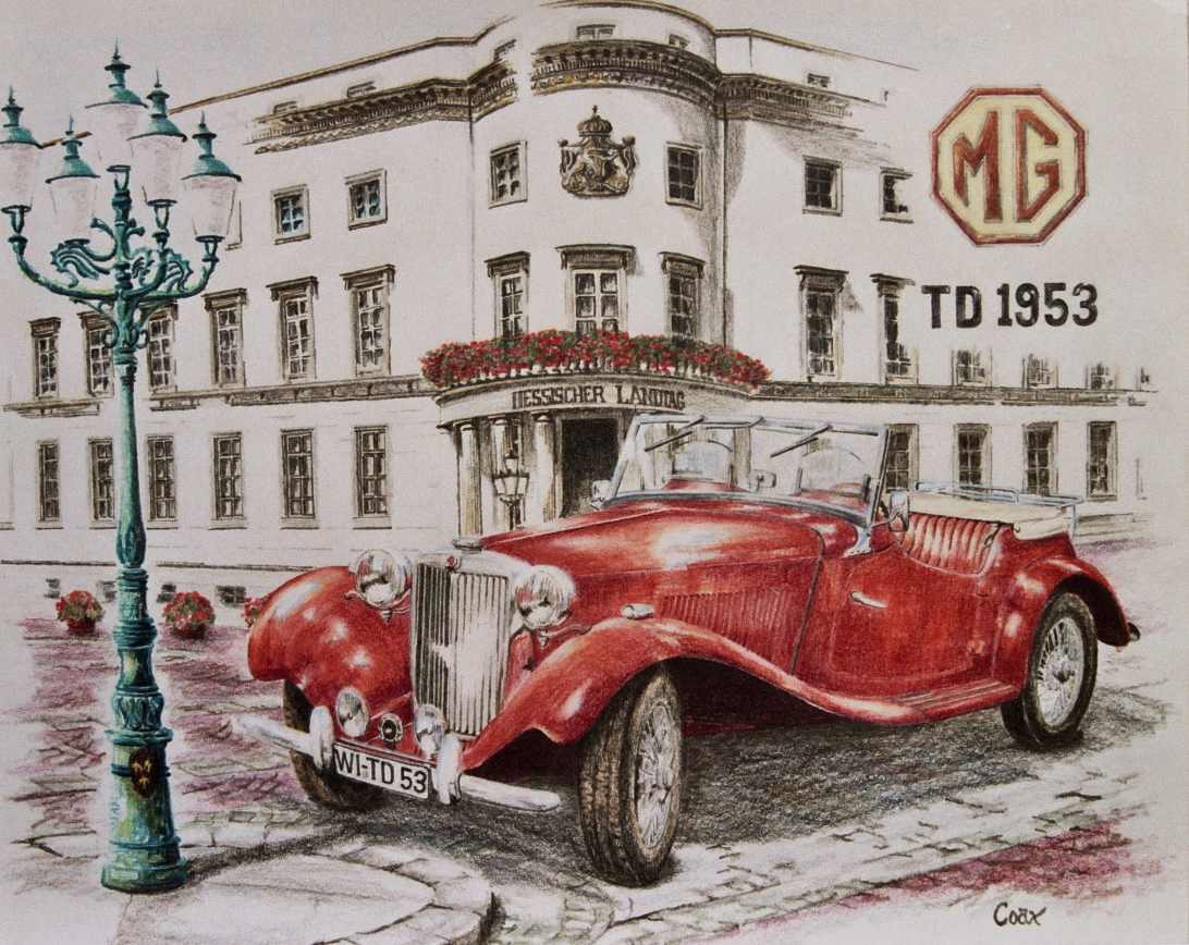 MG TD colored pencil drawing