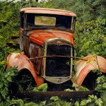 Model A Ford painting