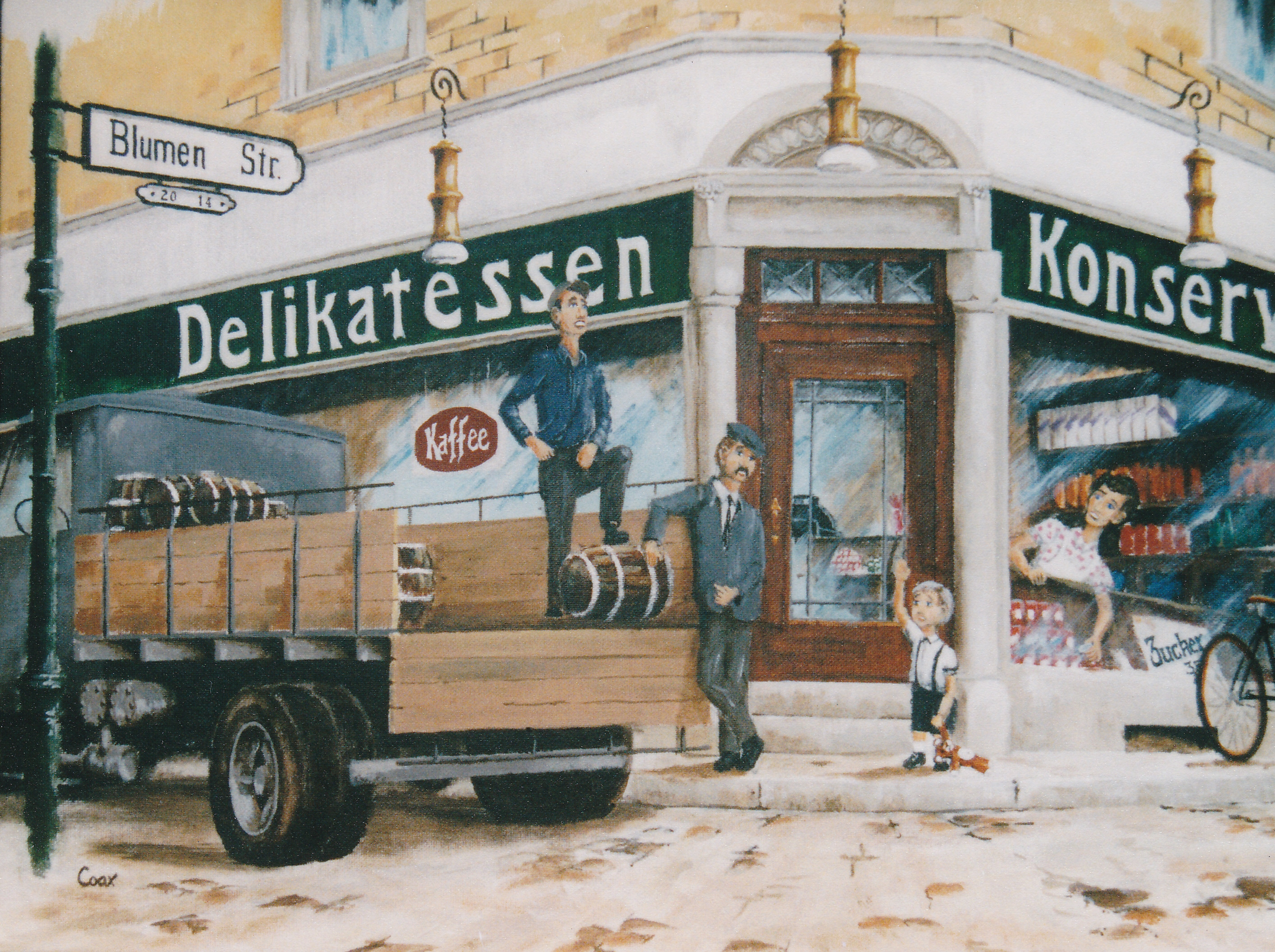Painting of delivery truck